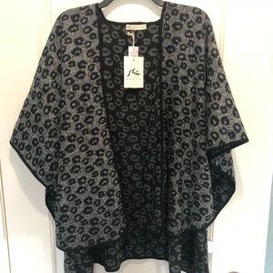 Jackets & Blazers - NWT Leopard Poncho Cardigan